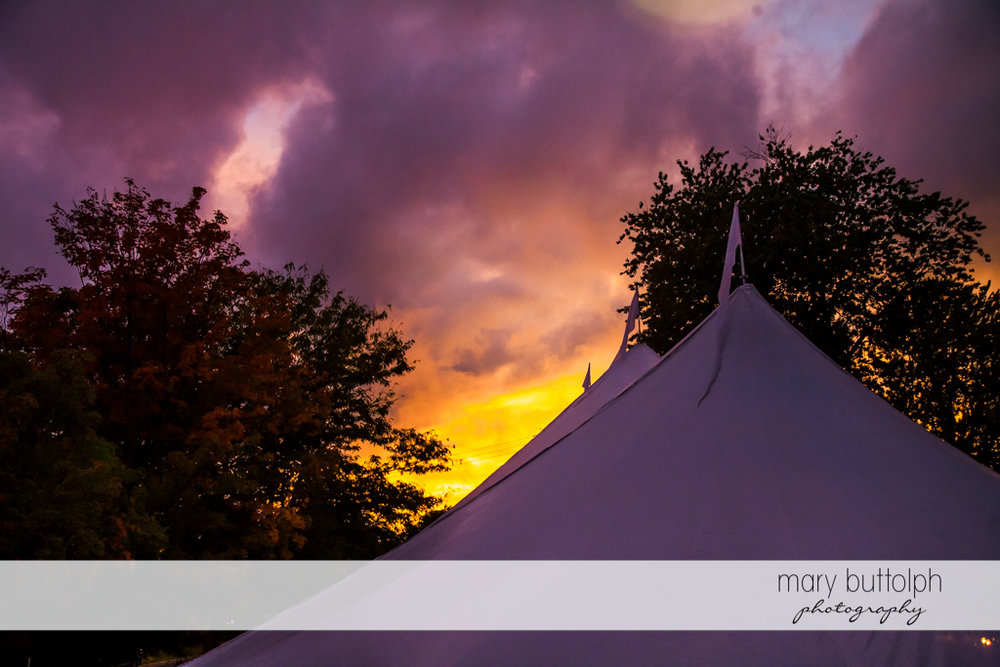 Wedding tent at Sherwood Inn Wedding