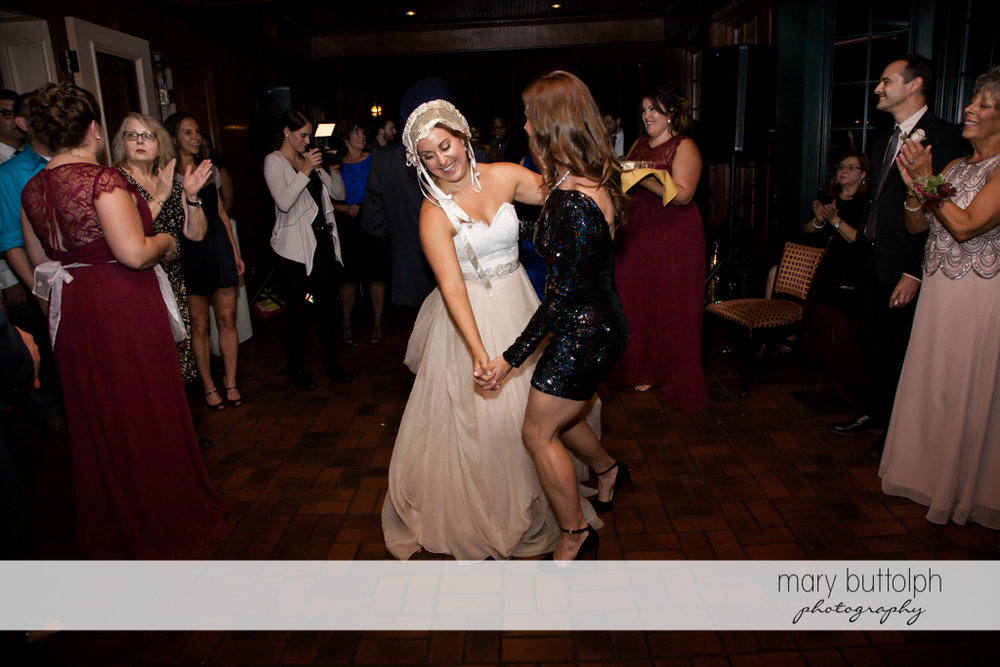Bride dancing at Sherwood Inn Wedding