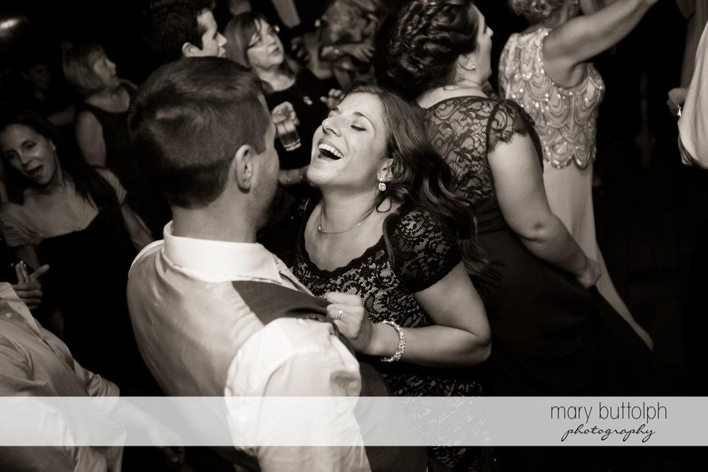 Guests dance at Sherwood Inn Wedding