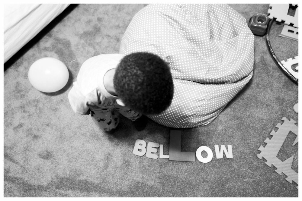"By the way...  He did not spell ""below"" incorrectly.  This is supposed to be ""bellow"" (look it up)"