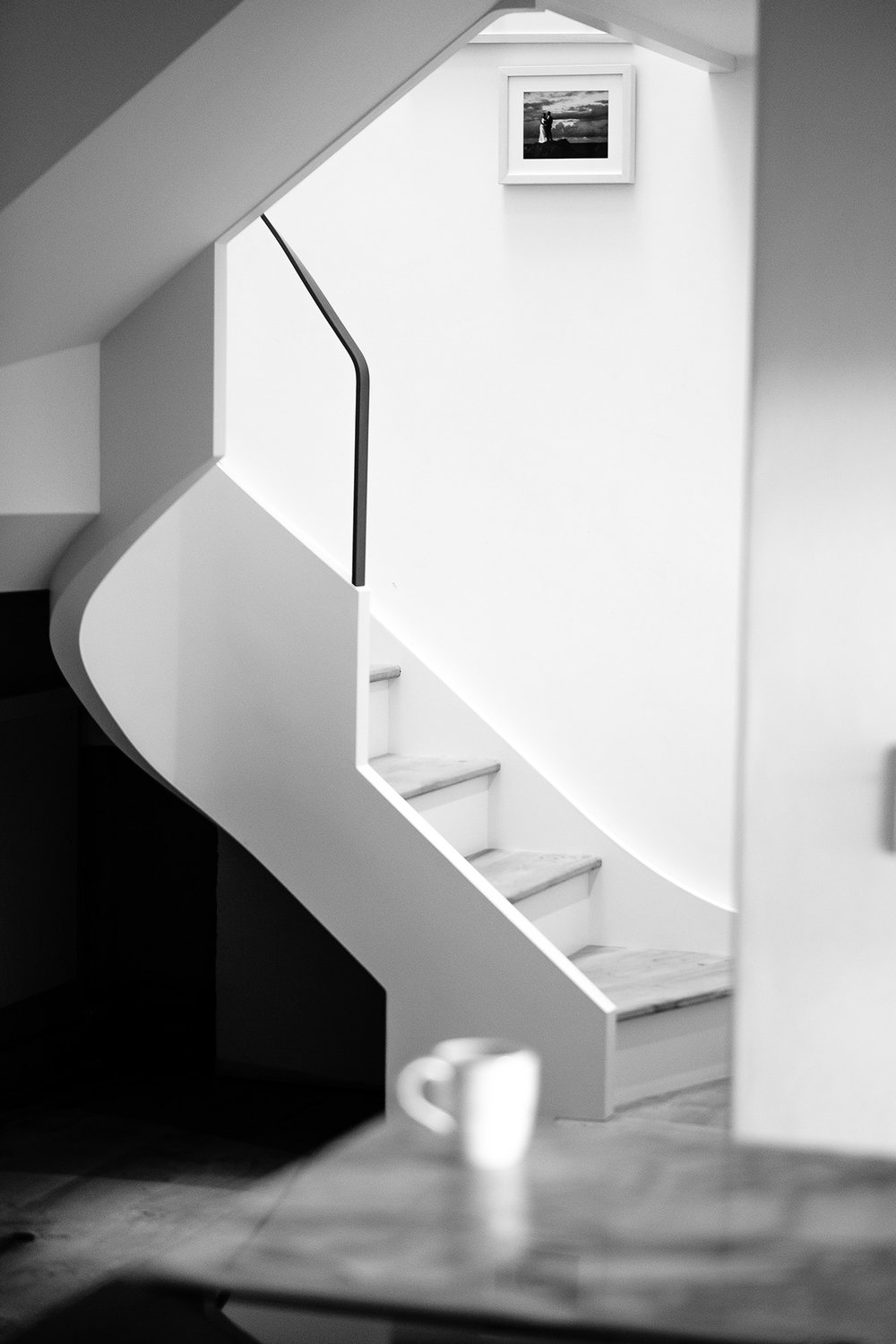 The Rogers'stairs custom birch ply and Cornish oak staircase joinery by  Alex Accleton    →fine woodwork, 2017