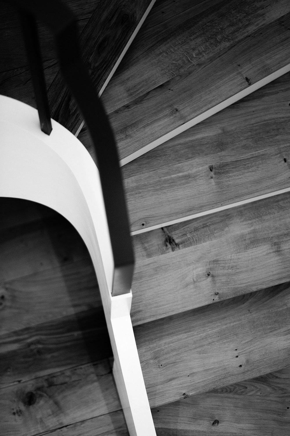 The Rogers'stairs, custom birch ply and Cornish oak staircase joinery by  Alex Accleton    →fine woodwork, 2017