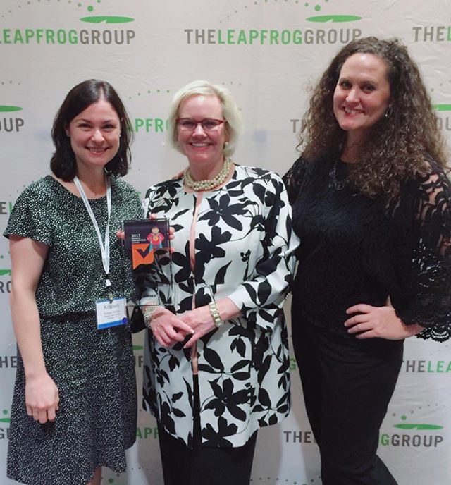 Kristen Terlizzi and Jill Arnold with Leah Binder, President and CEO of the Leapfrog Group. The Leapfrog Group hosted the inaugural National Health Care Ratings Summit and Patient's View Impact Awards Ceremony. #pvimpact17 #hcratingssummit