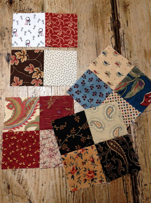four-patches quilt pattern