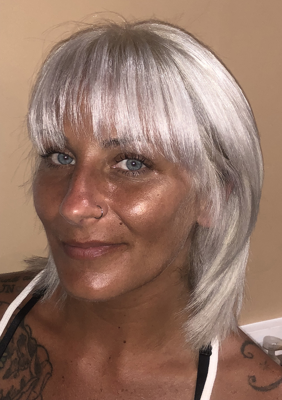 Silver Platinum hair color
