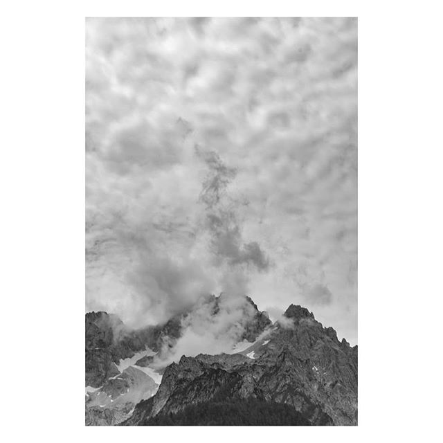 Clouds above the Slovenian Alps.  #EU #Europe #EuropeanUnion #Slovenia #triglav #landscape #landscapephotography #documentary #documentaryphotography #Travel #travelphotography #travelphoto #bnw #bnw_life #blackandwhitephotography #igblacknwhite #igtravel #mountain #weltraumzine #EUandMe