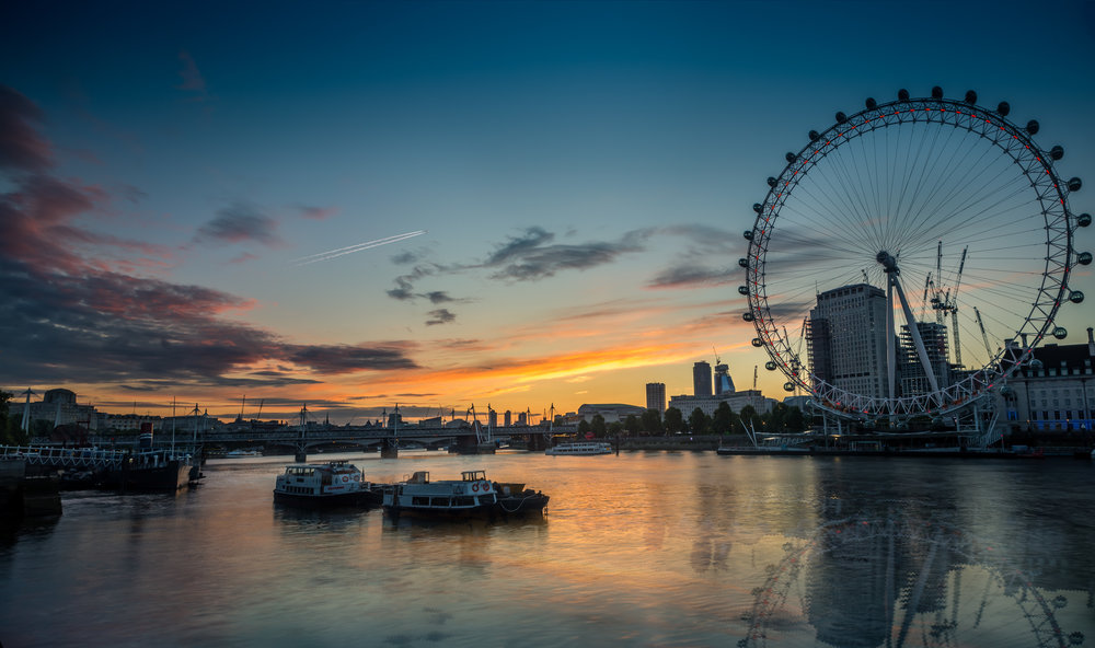 London Eye Sunrise Photo