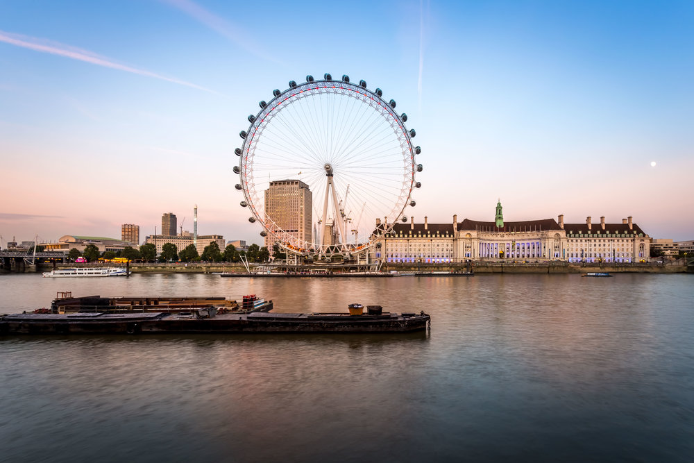 London Eye Sunset Photo