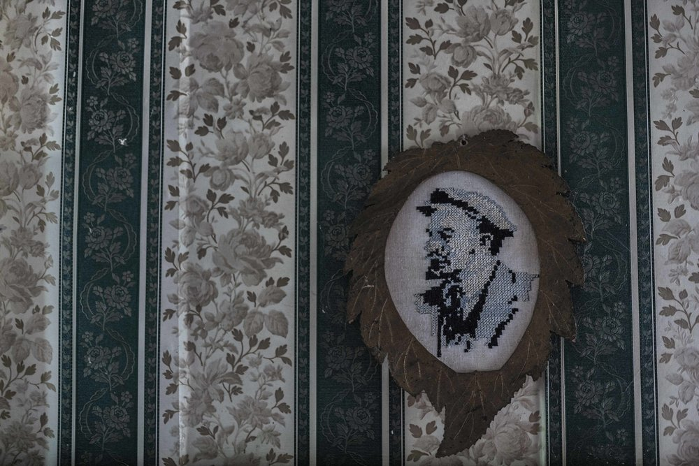 Ljuba lived during the period when Lenin's socialism cult was very strong. This embroidery was made by Ljuba many years ago and it is hanged at the wall.