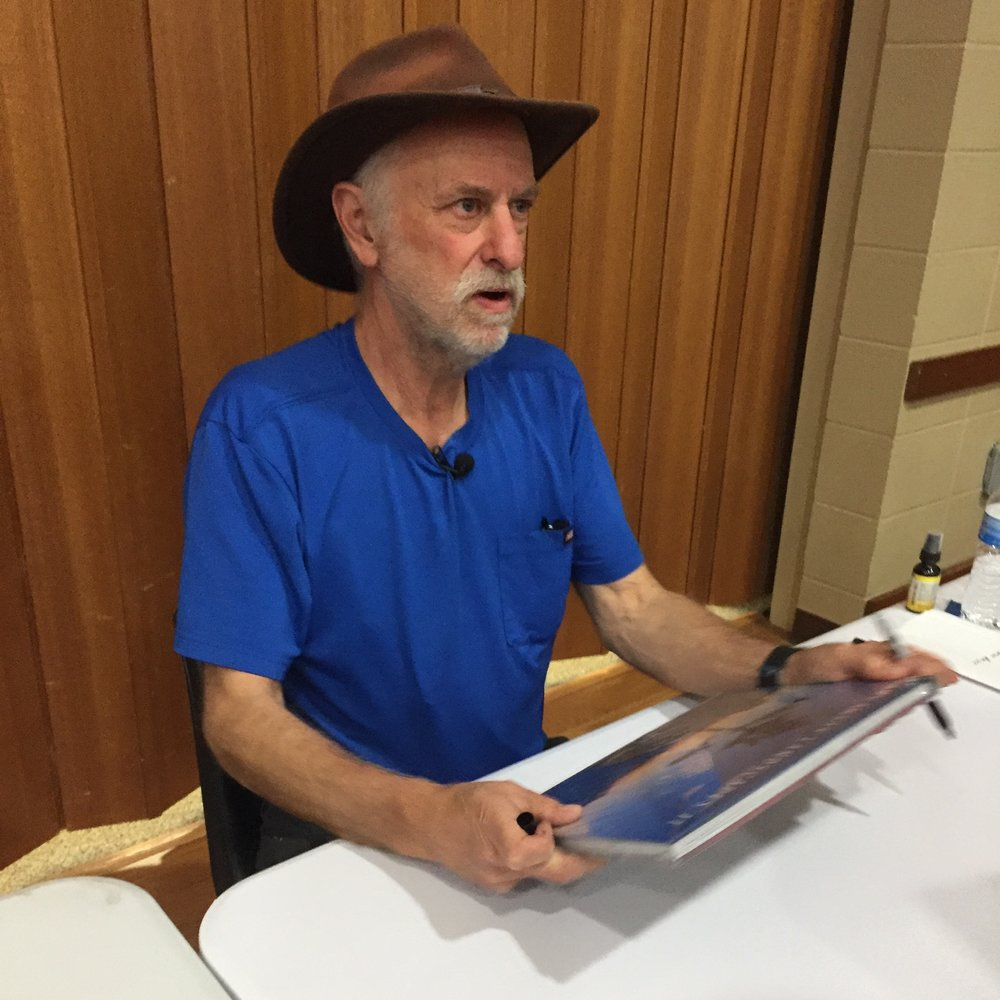 Tim Ernst autographing his latest book.