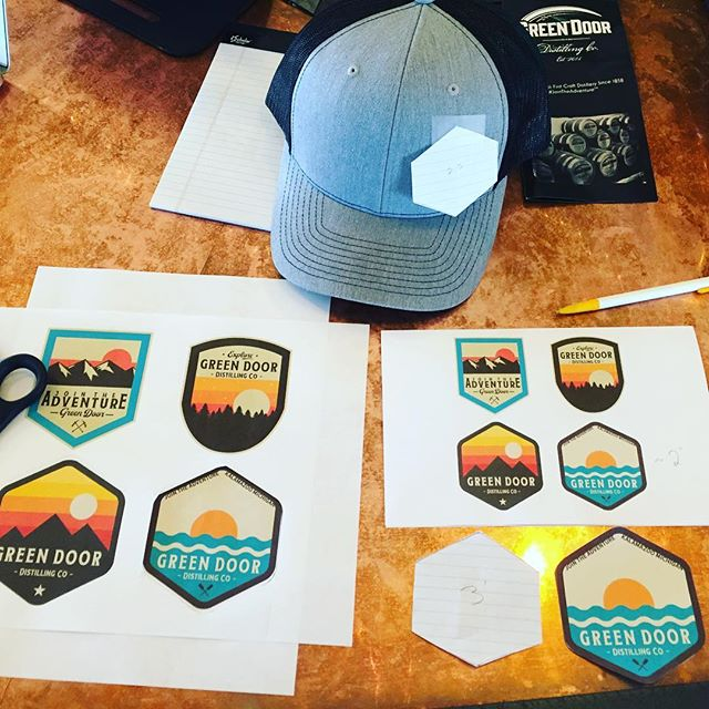 Working on some rad patches and hat designs today! Cheers to @damngoodbranding for some intense creative process sessions in the past few weeks. * * * #hatstudio #wemakestuff #creativeprocess #brandingforcreatives #startuplife #toomanyhats #hatlife #hattastic #jointheadventure