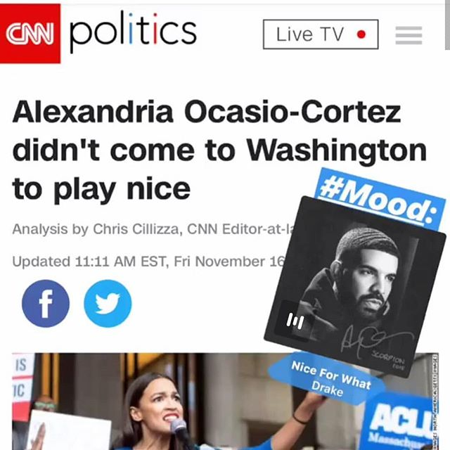 Pero, nice for what?  @ocasio2018  love this with the Drake reference.