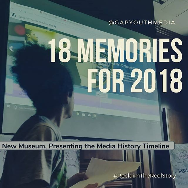 This year GAP accompllshed so much, from screenings to workshops, to viral SM videos. Our youth are writing, shooting, acting in, producing, making graphics and facilitating popular education workshops to change the world one story at a time. Check out these 18 memories from 2018! And donate to GAP.  #Reclaimthereelstory #givingtuesday link in bio!