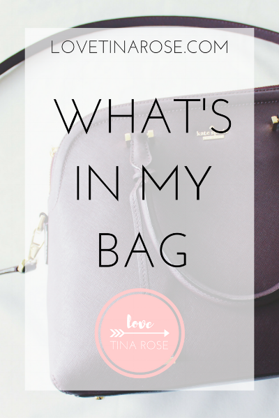Love Tina Rose What's In My Bag?