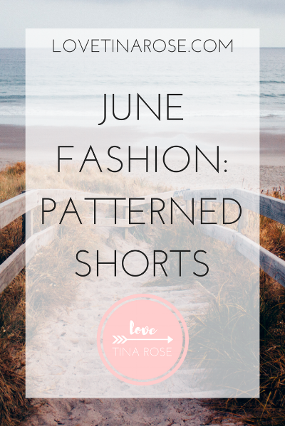 Love Tina Rose June Fashion Patterned Shorts
