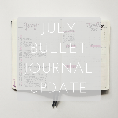 Love Tine Rose July Bullet Journal Update