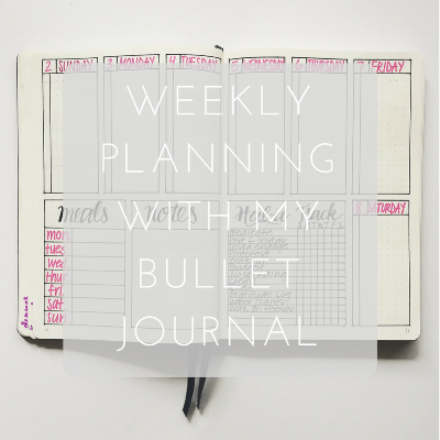 Love Tina Rose Weekly Planning with my Bullet Journal