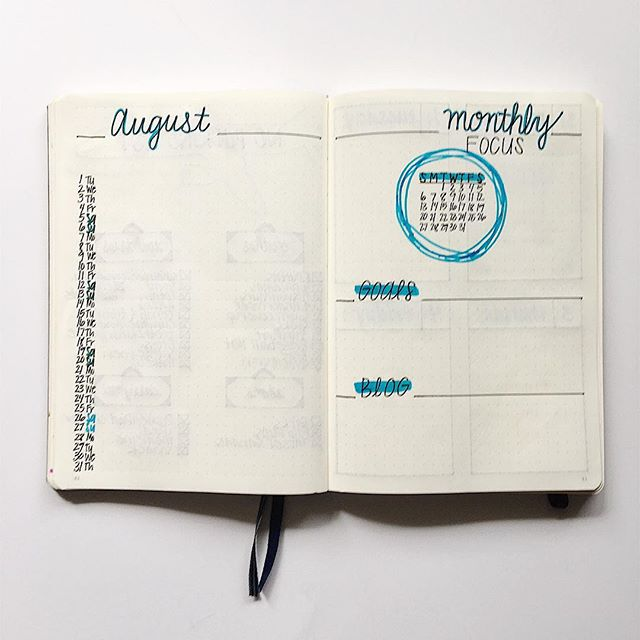 I am loving my August monthly spread! Click the link in my bio to see my August bullet journal updates!