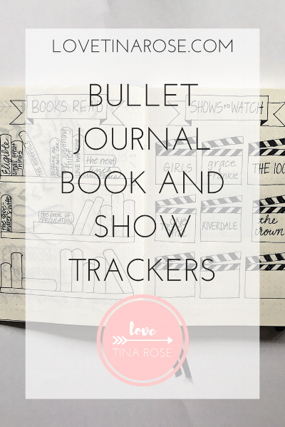 Bullet Journal Book and Show Trackers