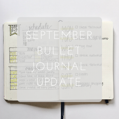 Love Tina Rose September Bullet Journal Update