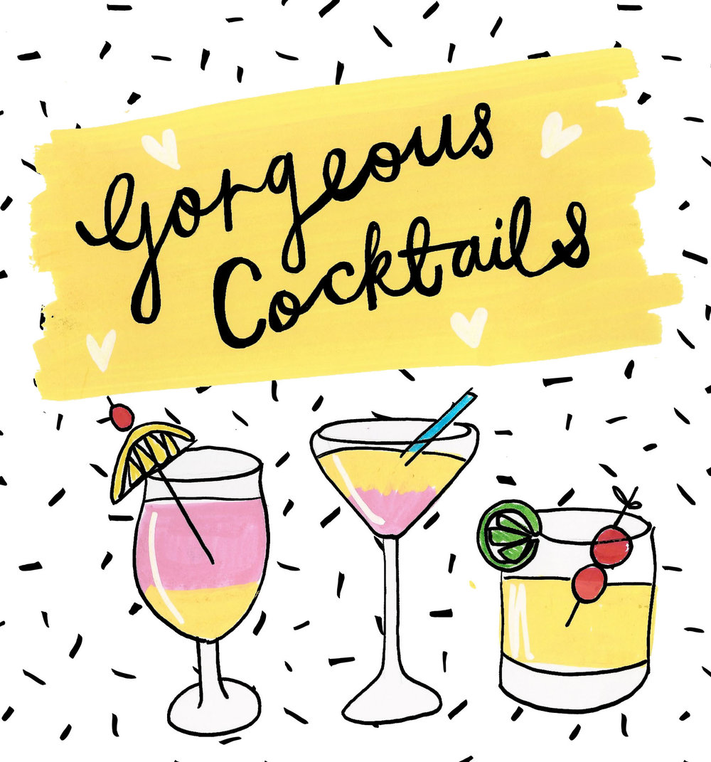 Gorgeous Cocktails by Sarah Fox!