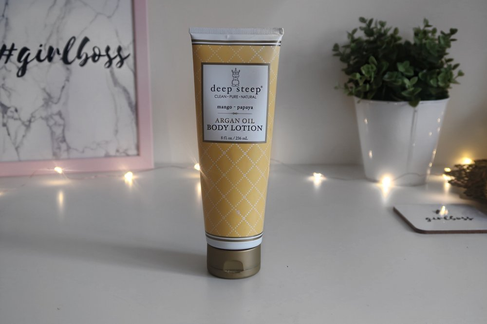 ARGON OIL BODY LOTION  - BY DEEP STEEP