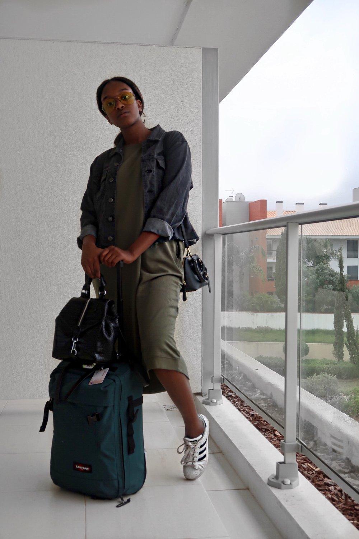 airport attire - jacket thrifteddress pull + bear