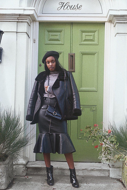 faux leatherskirt - H&M