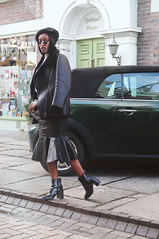 leather jacket - ZARA