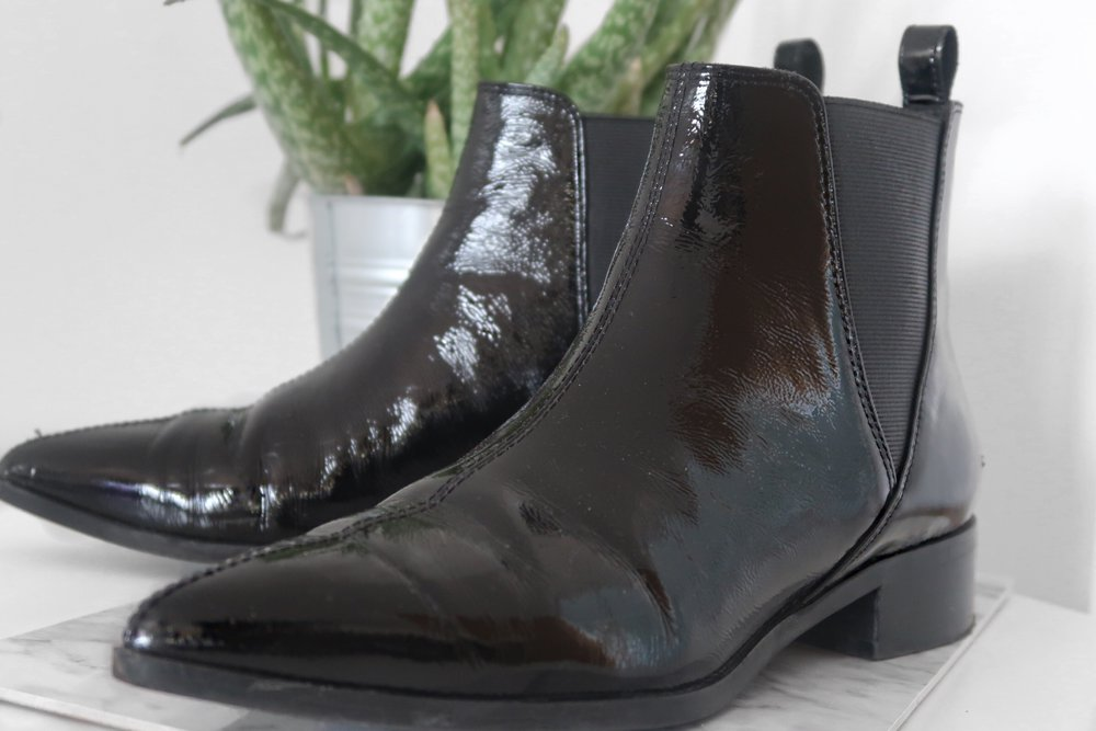 #2 - &OTHERSTORIES PATENT CHELSEA BOOTS