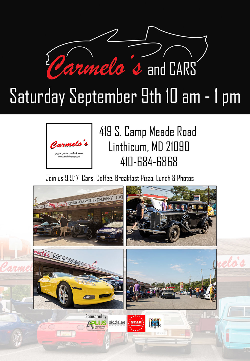 Carmelo's and Cars September