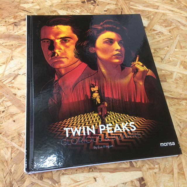 So thrilled to be included in @monsapublications 'Twin Peaks - Glorious & Bizarre' book alongside some amazing illustrators! (I even made the back cover) 😉 #TwinPeaks #Illustration #DavidLynch #TwinPeaksReturn