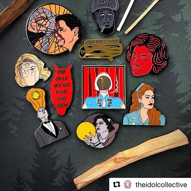 "Stoked to have the #HeyJoeyItsEstelle Laura Palmer pin alongside so many amazing #TwinPeaks pins!  #Repost @theidolcollective (@get_repost) ・・・ ""There is a sadness in this world, for we are ignorant of many things. Yes, we are ignorant of many beautiful things - things like the truth. So sadness, in our ignorance, is very real.