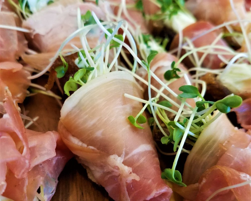 Prosciutto and micro greens