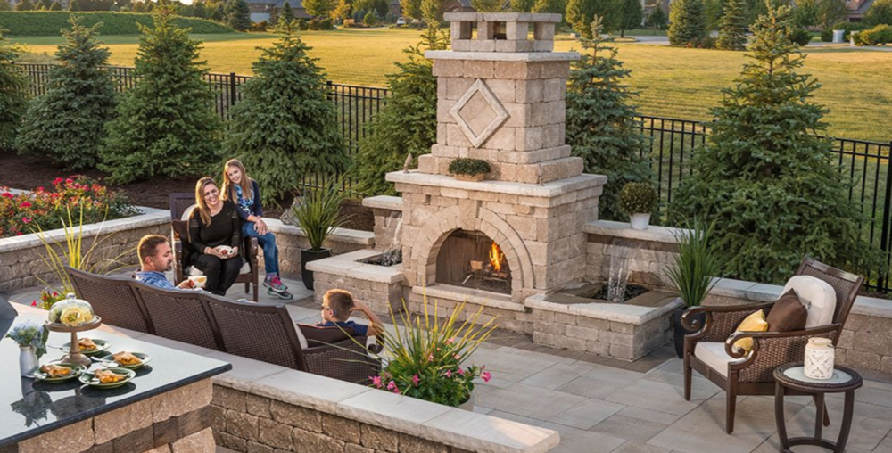 outdoor fireplaces -