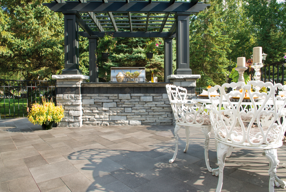 Consider These Stain and Fade Resistant Unilock Pavers for Outdoor Kitchens and Dining Areas in Holmdel, NJ