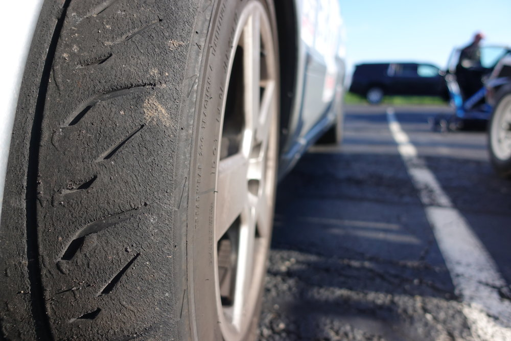 Maybe someone can benefit from this photo in the future: Bridgestone RE71R's after a full One Lap event, plus a 2,100 mile highway journey from Seattle.