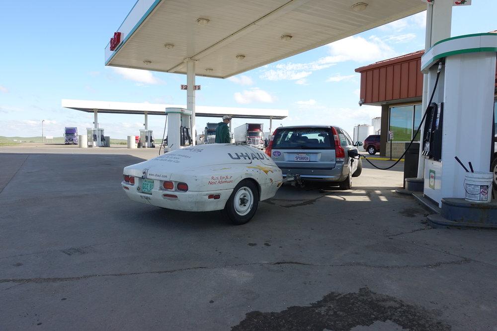 Gas stop in South Dakota.