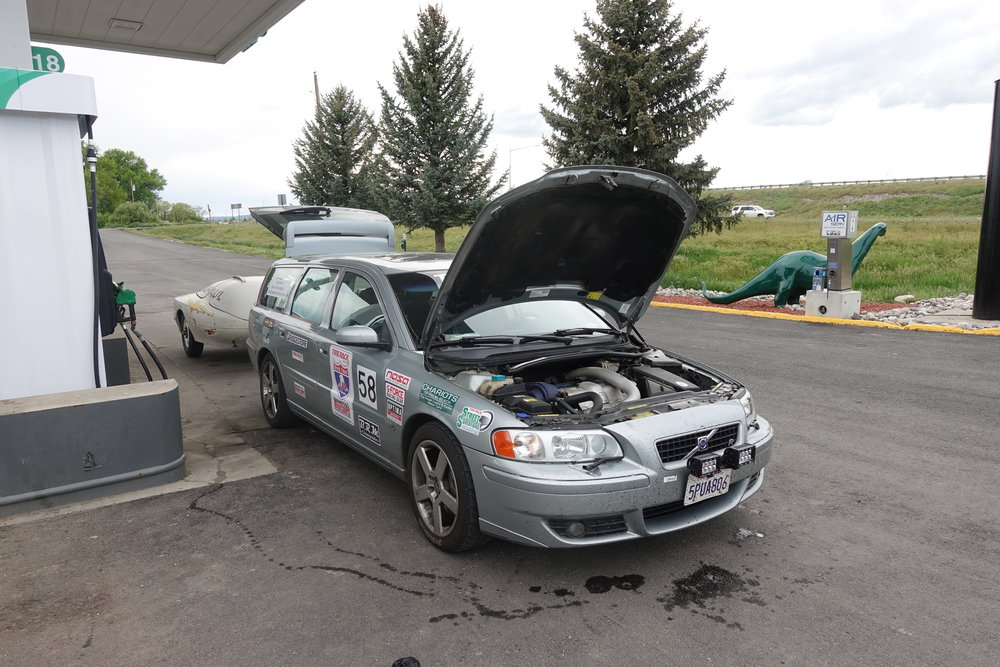 Gas / coolant stop in Montana.