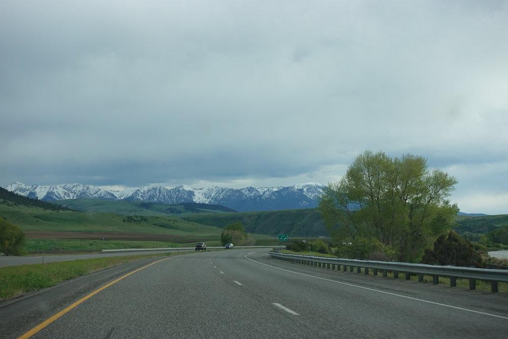 Cruising into Bozeman, MT.
