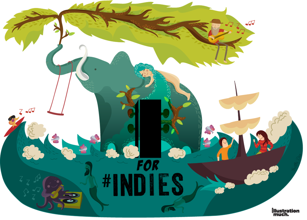 Artwork created for the launch of a popular music channel called MTV Indies, An Illustration Much project
