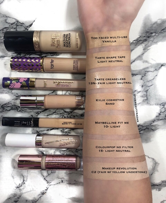 battle of the concealers too faced vs tarte cosmetics the beauty