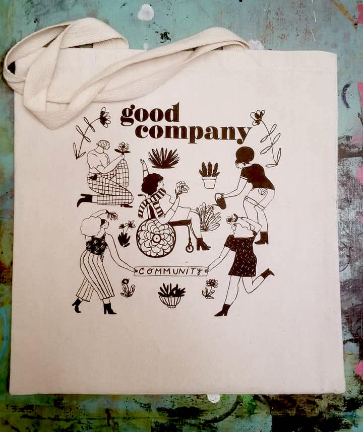 Bag illustration by Loveis Wise /  @cosmicsomething