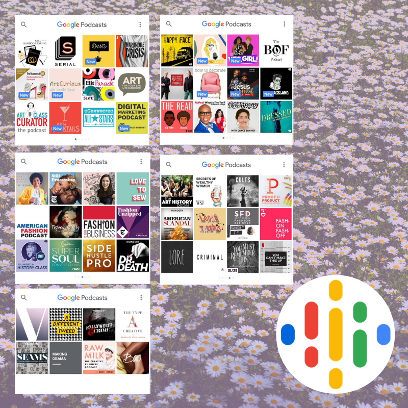 6. Google Podcasts - Sometimes I get tired of listening to music in the studio and I just need to hear some conversation, learn something or laugh. Google Podcast's library is expansive and dope. I'm subscribed to a lot of podcasts in the entrepreneur, arts, fashion, true crime and comedy genres.