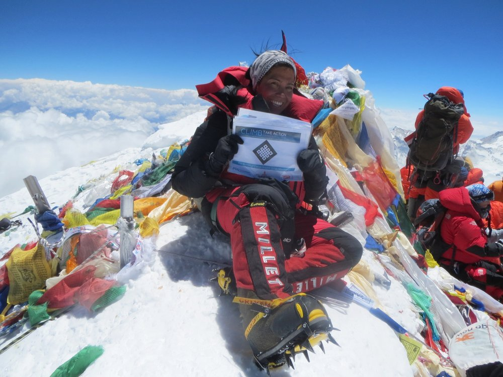 Mt. Everest 2013 - Georgina successfully reached the summit in 2013 after a second attempt (2011). She is in the process of completing the Explorer Grand Slam, a feat which less than 60 people globally have completed. (less than 15 women) When Georgina started this personal challenge, she could barely run a mile in 2007.