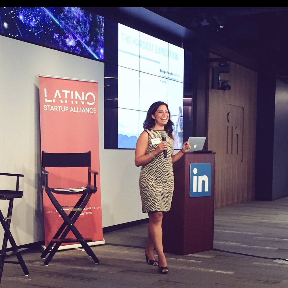 Georgina speaking at LinkedIn at the America's Summit