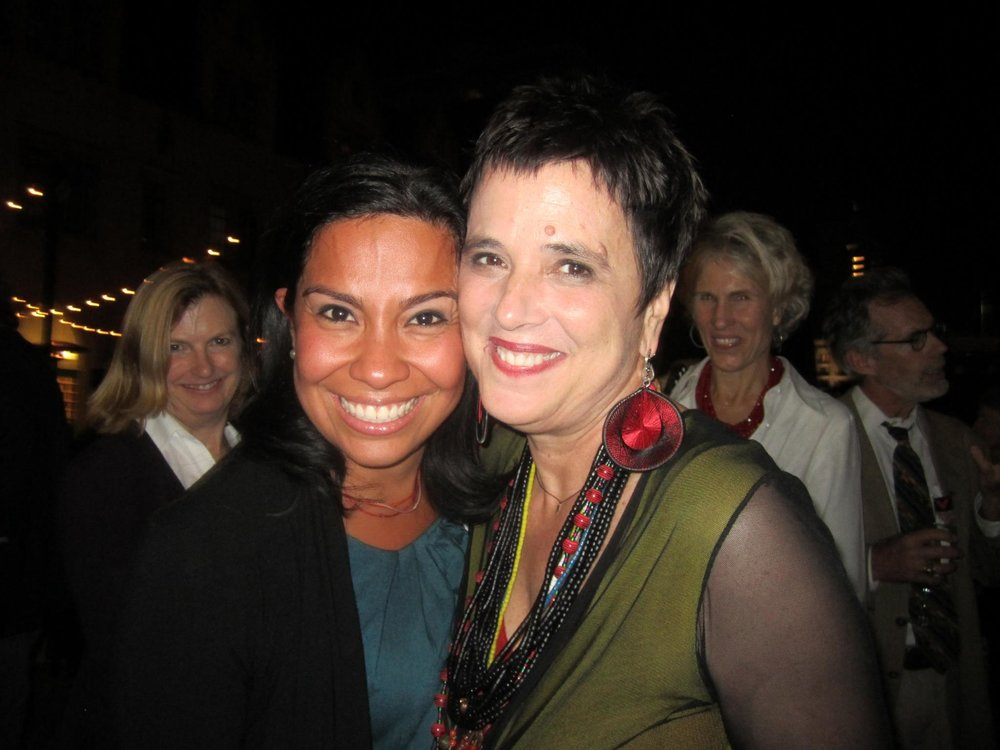 Eve Ensler and I, San Francisco Grace Cathedral. So amazing to finally meet her in person!