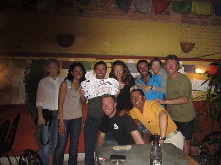 Back in Kathmandu with the Team Post Climb