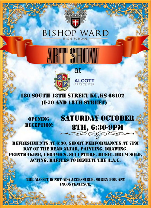 Bishop Ward Art Show Poster 10 8 2016