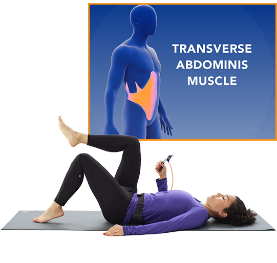 Here's how it works - 1. Pull your navel toward your spine to activate TVA2. Contract your lower abs to build strength3. Add dynamic movement of the legs to increase effort4. Maintain stability by watching the needle on the gauge
